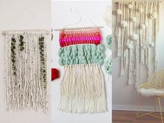 decorar con lana DIY tapiz