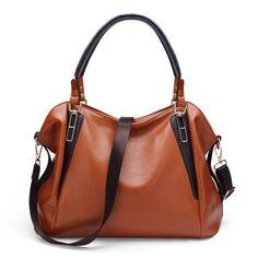 Fashion Women Leather Lychee Emboss Handbag