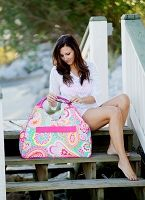 Summer Paisley Beach Bag Monogrammed | The Preppy Pair