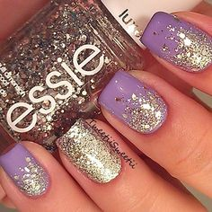 This Essie glitter is one of my favorite glitters ever and this is also one of my fave ways to do my nails!