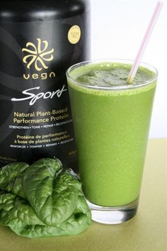 Supercharged Green Vegan Protein Smoothie> VEGA IS THE BEST. I promise. If you are sensitive to whey and soy proteins, plant protein is definitely the way to go. Vega is quality and awesome.