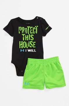 Under Armour Protect This House Bodysuit & Shorts (Baby Boys) available at #Nordstrom