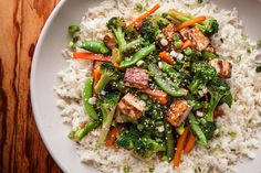 A healthy teriyaki tofu and veggie stir-fry recipe.