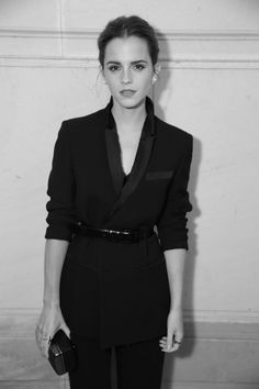 Emma Watson at the Vogue Paris Foundation Gala, photographed by Saksia Lawaks