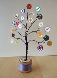 Simple and adorable button-themed nursery idea.