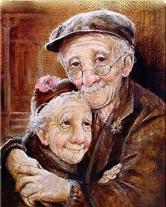 Old couple.