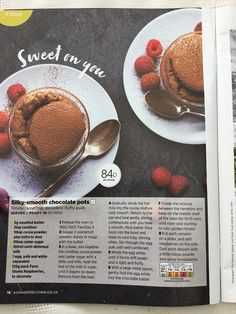 Slimming World Desserts, Chocolate Pots, Unsalted Butter, Oven, Baking, Breakfast, Sweet, Food Ideas, Morning Coffee