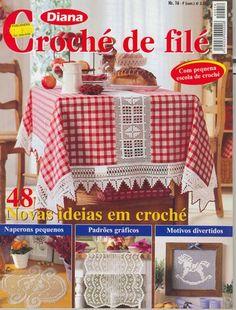 REVISTA DIANA - CROCHE DE FILÉ - Adriana Roque - Álbuns da web do Picasa