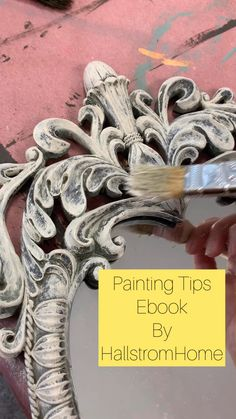 Easy Chalk Painting Tips DIY Guide, DIY and Crafts, Painting doesn't have to be a struggle. Make it fun with some easy chalk painting tips for your next DIY project with our handy Painting Guide and E. Diy Furniture Videos, Furniture Painting Techniques, Diy Furniture Easy, Painting Tips, Furniture Makeover, Chalk Painting, Furniture Ideas, Painting Tutorials, Chalk Paint Mirror