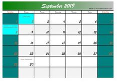Five September 2019 Calendar Printable Free, We will maintain our consistency to make a free calendar design that is useful for you. Please support us to always make a useful and useful calendar. September Calendar, 2019 Calendar, Free Calendar Template, Calendar Printable, Cool Things To Make, How To Memorize Things, Calendar Design, Free Printables, Social Media