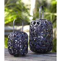 Helix Lanterns in Lighting, Candlelight   Crate and Barrel