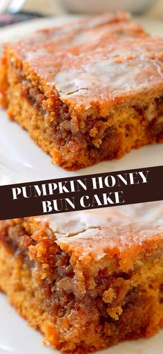 Kinds Of Desserts, Just Desserts, Dessert Recipes, Honey Bun Cake, Honey Buns, Pumpkin Recipes, Fall Recipes, Recipe Videos, Queen Mary