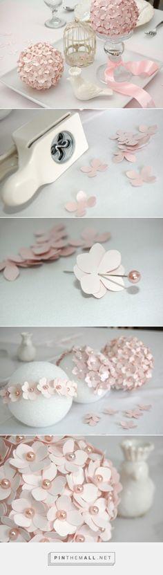 DIY Paper Flower Pomander Tutorial  - Project Nursery - created via https://pinthemall.net