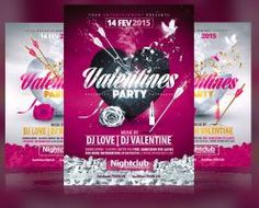 Valentines Day Party Flyer Template by RomeCreation