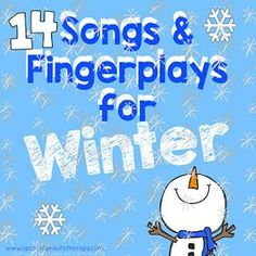 14 Preschool Songs And Fingerplays For Winter Speech Therapy - Speech Sprouts