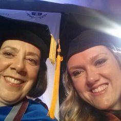 #Commencement keynote speaker & VP Dr. Celeste Schwartz & #Classof2014 student speaker Michelle Sikora share their #ThinkBigGrad selfie!