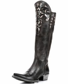 Women's Hacienda Boot - Old West Black, this is my fave! But they don't have my size.....