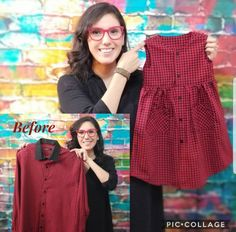 DIY repurpose a men's dress shirt into little girl's dress. Step by step video tutorial. DIY repurpose a men's dress shirt into little girl's dress. Step by step video tutorial. Shirt Dress Diy, Shirt Diy, Diy Dress, Cute Girl Outfits, Little Girl Dresses, Kids Outfits, Girls Dresses Sewing, Toddler Outfits, Diy Clothing