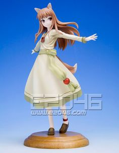 The Holo Ani Statue is being reproduced! With her cute wolf ears and elegant dress, Holo stands 7 tall and comes with a flocked- base to represent the wheat fields of her homeland. Spice And Wolf Holo, Wolf Ears, Spin Out, Mode Shop, Anime Merchandise, Princess Zelda, Disney Princess, One Piece Dress, Anime Figures
