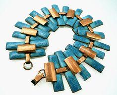 Matisse Copper with blue enamel - bracelet