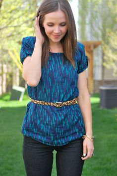 Mixing patterns in an outfit