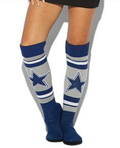 NFL Football 2013 Womens Ladies Plush Knit Knee High Boot Slippers - cowboys-M Dallas Cowboys Outfits, Dallas Cowboys Hoodie, Dallas Cowboys Women, Cowboys 4, Cowboy Outfits, Dallas Cowboys Football, Cowboys Apparel, Football 101, Football Socks