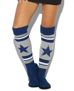 Cowboys Knee Slipper Sock   Wet Seal