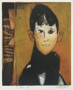 My Boy by Mauricio Lasansky, Colour engraving, etching and aquatint with soft ground and electric stippler.