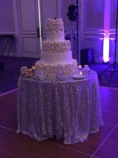 Gorgeous 5 Tier Wedding Cake | White floral tiers | Konditor Meister Bakery | Hyatt Regency Boston