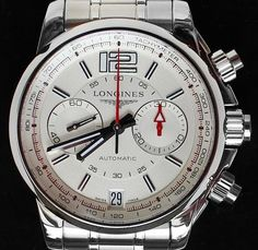 Longines Admiral Chronograph L3.666.4.76.6 is a flagship of this famous watchmaking house.  It is a classic Swiss Chronometer of highest technical level   with an excellent price-performance ratio. Gender: Men's watch,  style: Elegant. Longines retail price 3375 €. The finish level is of very high quality: that is visible in all details.  On par with Patek Philippe, Longines is famous in the history of  Swiss watches as a producer of the best and most reliable  chronograph movements. Not ...