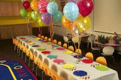 Beautiful Table Decoration For A Kids Birthday Party