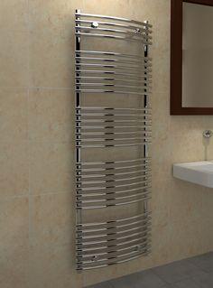 Kudox Designer Towel Rail Tube on Tube x Chrome Towel Rail, Blinds, Tube, Chrome, Curtains, Design, Home Decor, Towel Racks, Decoration Home