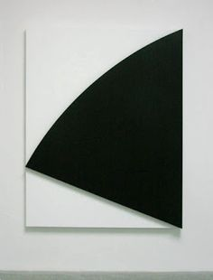 Ellsworth Kelly, Black Relief III, 2010; Oil on canvas, two joined panels; 75 1/4 x 65 3/8 inches.