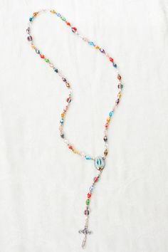 Beautiful multicolored handmade rosary - UniqueRosaries4Mary.etsy.com