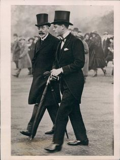 Father and son : Prince Edward and king George V
