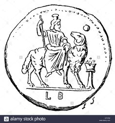Download this stock image: Zeus (Latin: Jupiter), Greek divine king, leader of gods, god of sky and thunder, verso of a bronze coin from Alexandria, wood - CP1F62 from Alamy's library of millions of high resolution stock photos, illustrations and vectors.