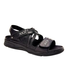 Black Argo Leather Sandal