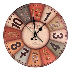 Horloge sur bois de palette recycl e et morceaux d for Pendule murale industrielle