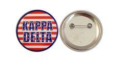 Kappa Delta Patriotic USA Button from GreekGear.com