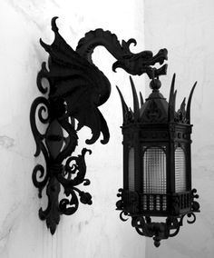 Gothic lighting. Outdoor lamp