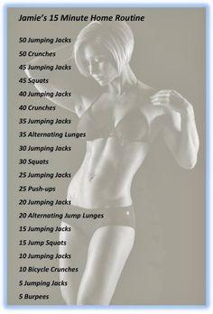 Jamie Eason's 15 Minute Home Workout Routine