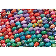 The Puzzle That Ruined Easter 250 Piece Wooden Jigsaw Puzzle http://www.easterdepot.com/the-puzzle-that-ruined-easter-250-piece-wooden-jigsaw-puzzle-2/ #easter  This is a very challenging 234 piece jigsaw puzzle is filled with colorful Easter eggs.   It has tessellated pieces and uneven edges.  It is made by British wooden puzzle manufacturer Wentworth. All pieces are laser cut and the puzzle contains whimsies, pieces that reflect the theme of the puzzle.   From the manufacturer:   T..