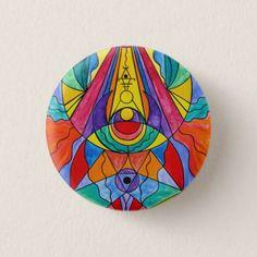 """Arcturian Insight Grid"" 1¼ Inch Round Button - kids kid child gift idea diy personalize design"