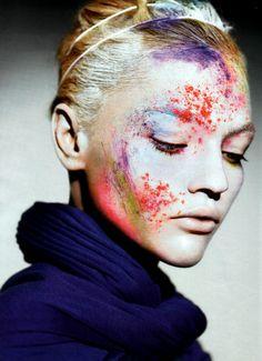 Sasha Pivovarova in 'Картина Маслом (Oil Painting)'  Photographer: Miguel Reveriego  Dress: Haider Ackermann F/W 2007/08  Vogue Russia August 2007