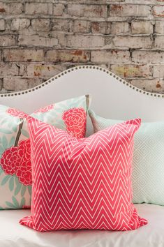 love the pillows!!  Caitlin Wilson Textiles | Back in Stock: Coral Tall Chevron!