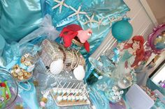 The Little Mermaid Tea Party Party Ideas | Photo 3 of 20 | Catch My Party