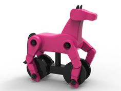 My Wooden Horse fuschia and Black