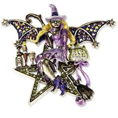 Kirks Folly Star Godess Witch Brooch