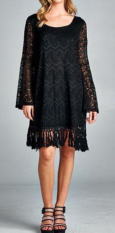 Grace Dress in Black Lace