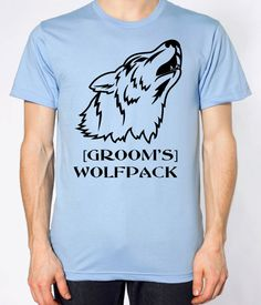Wolfpack Bachelor Party Shirt Custom Grooms Wolfpack